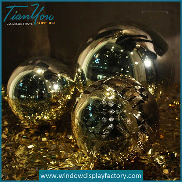 baloon10 - Gold Sparkling Custom Resin Balls Decoration