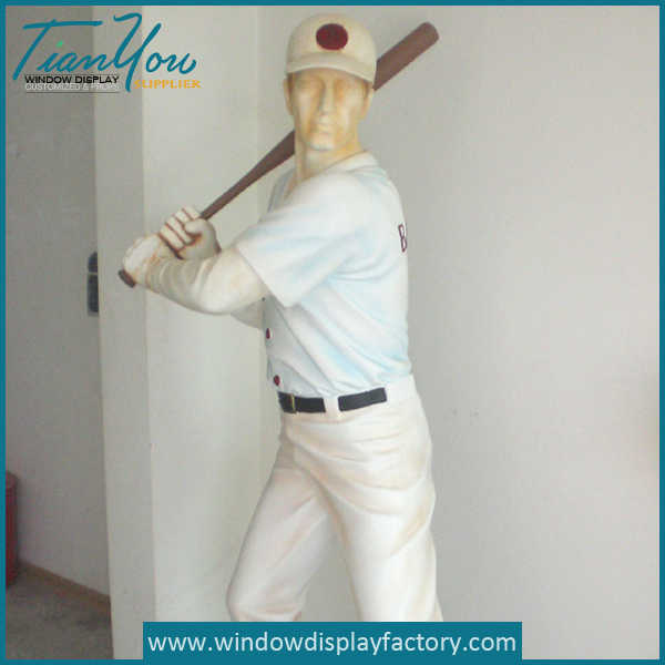 Custom Life Size Resin Baseball Display Props