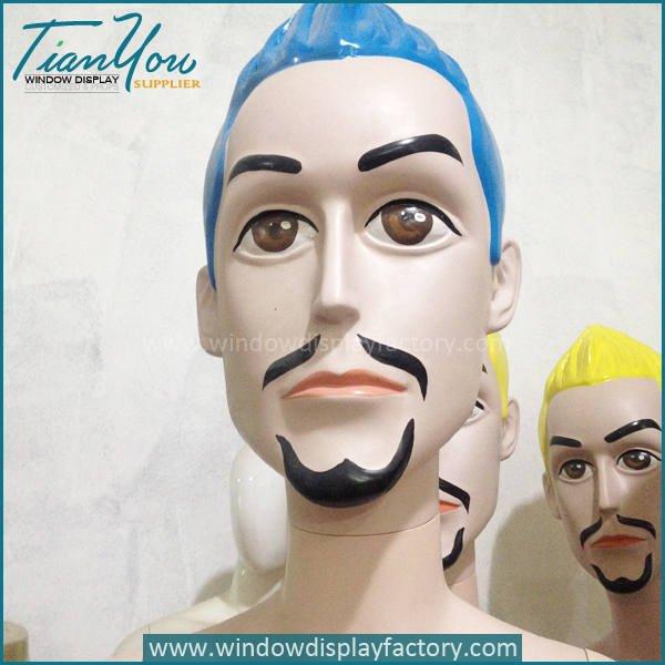 big head mannequin5 - Custom Colorful Fiberglass Big Head Mannequin Display