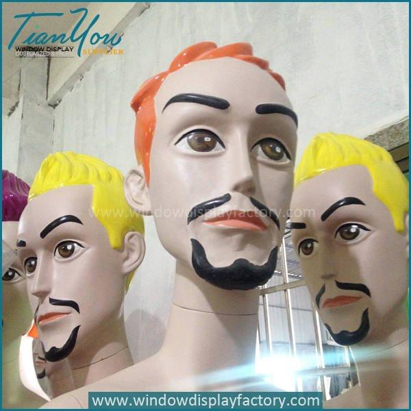 big head mannequin6 - Custom Colorful Fiberglass Big Head Mannequin Display