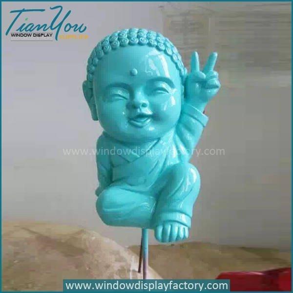 Lovely Custom Colorful Fiberglass Buddha Statue