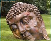 Outdoor Giant Lovely Fiberglass Buddha Statues