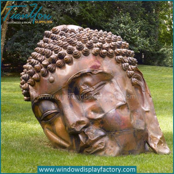 Outdoor Giant Lovely Fiberglass Buddha Statues