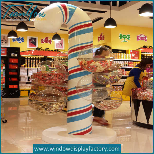 Giant Colourful Candy Display Fiberglass Fixtures