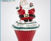 Ceramic Christmas Gift Decoration Mini Santa Claus Craft