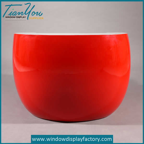 Red Life Size Round Fiberglass Chair Furniture
