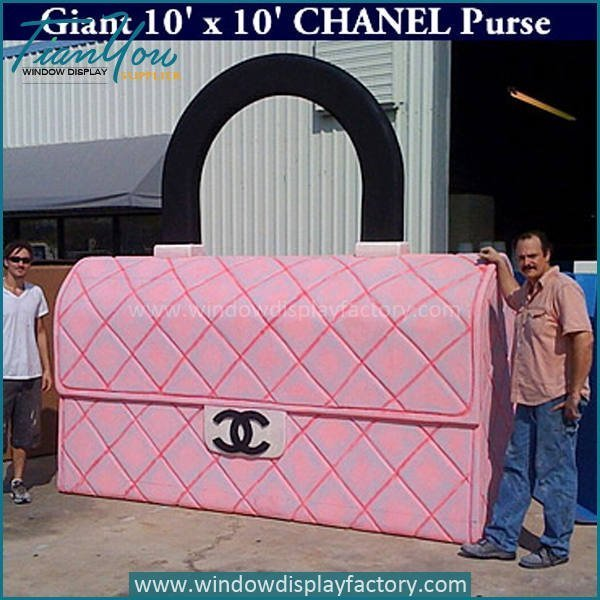 Giant Outdoor Fiberglass Chanel Purse Display