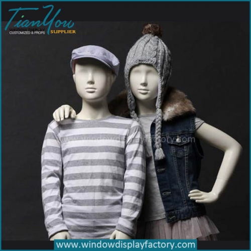 Full Body Fiberglass Child Mannequin for Sale