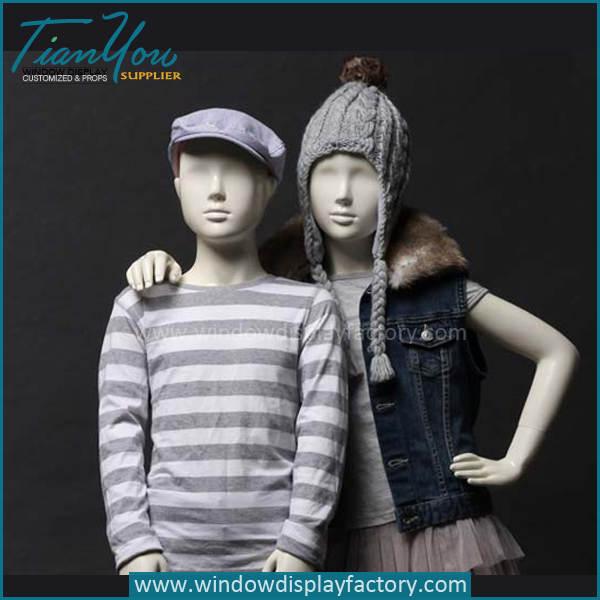 Full Body Fiberglass Child Mannequin for Sale