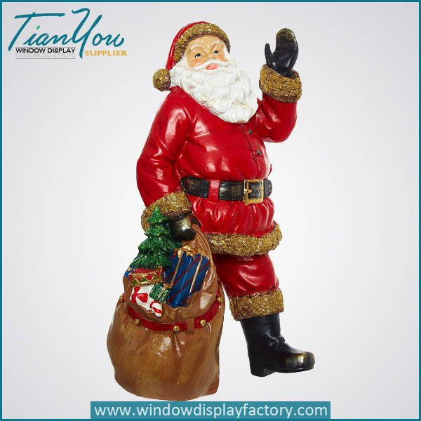 christmas Santa Claus decoration - Fiberglass Christmas Decoration Cute Santa Claus Statue