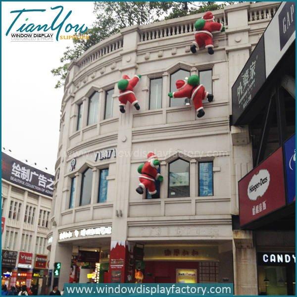 christmas Santa Claus - Fiberglass Christmas Decoration Cute Santa Claus Statue