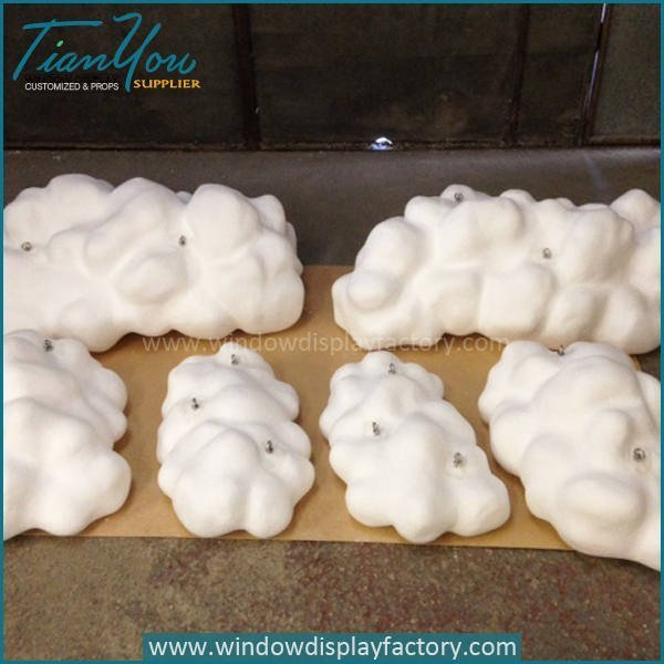 Beautiful White Fiberglass Clouds Decoration