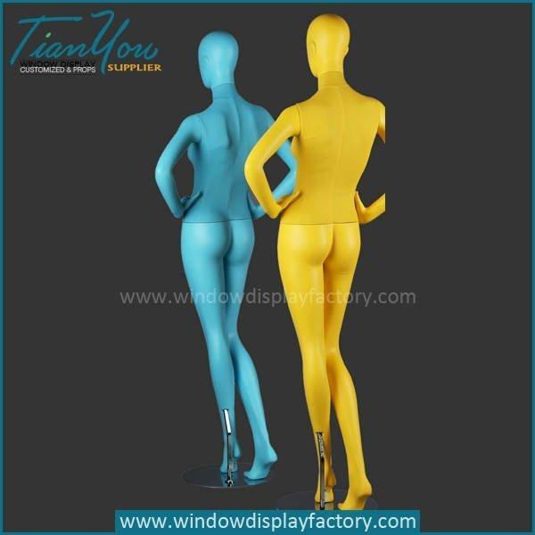 Hot Sale Standing Display Fiberglass Colorful Mannequin