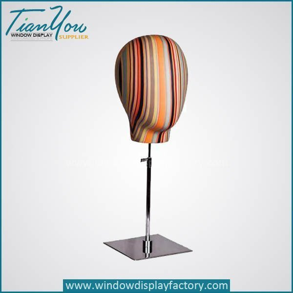 Custom Colorful Mannequin Head Display Props