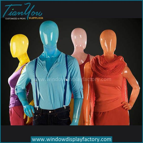 colorful mannequins - Hot Sale Standing Display Fiberglass Colorful Mannequin