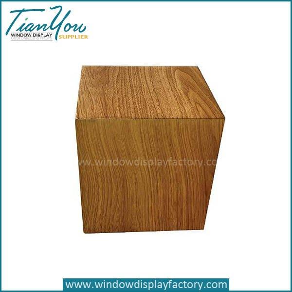 Custom Popuplar Mannequin Wood Cube Display Base