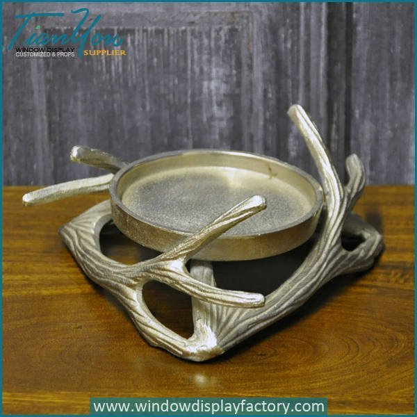 Life Size Decorative Fiberglass Antler Tray