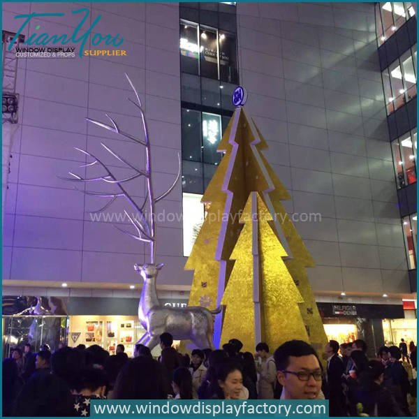 deer4 - Outdoor Decorative Fiberglass Christmas Deer Statues