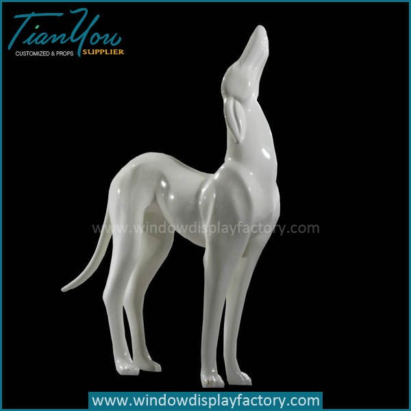 Giant Lovely Fiberglass Dog Statues Decoration