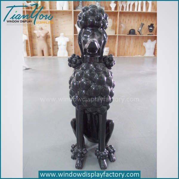 dog statue - Life Size Lovely Fiberglass Sitting Puppy Craft Decoration