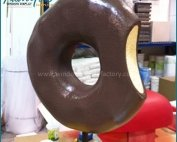 Manual Giant Fiberglass Donut Display Props