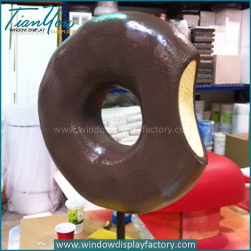 Manual Giant Fiberglass Donut Display Props