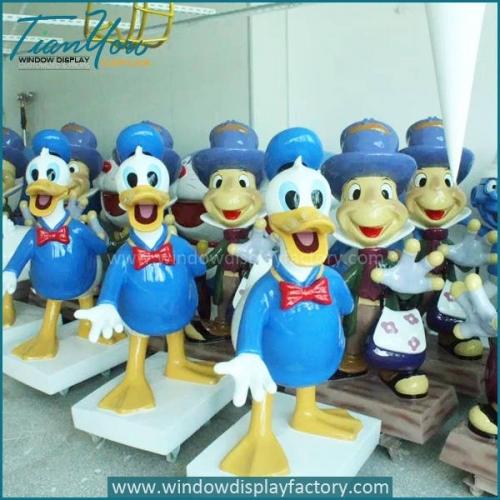 Giant Colorful Fiberglass Donald Duck Statues Display