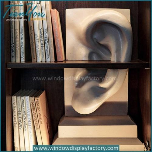Impressive Big White Fiberglass Ear Statue Decoration