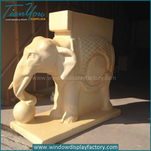 Outdoor Garden Realistic Fiberglass Elephant Statue