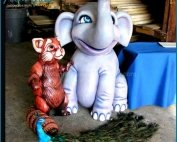 Lovely Life Size Fiberglass Child Elephant Statue