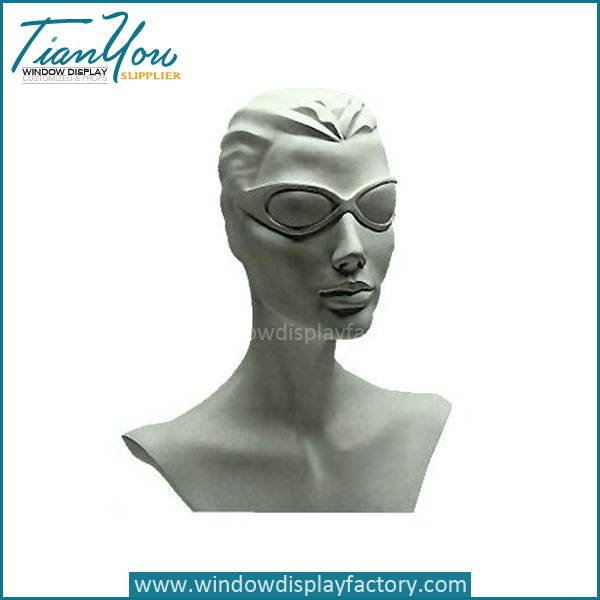 fashion female mannequin - Custom Mordern Neck Mannequin Display Props
