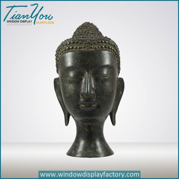 fiberglass buddha head decorations - Antique Craft Brass Color Fiberglass Buddha Head