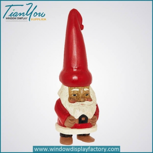 Fiberglass Christmas Decoration Cute Santa Claus Statue