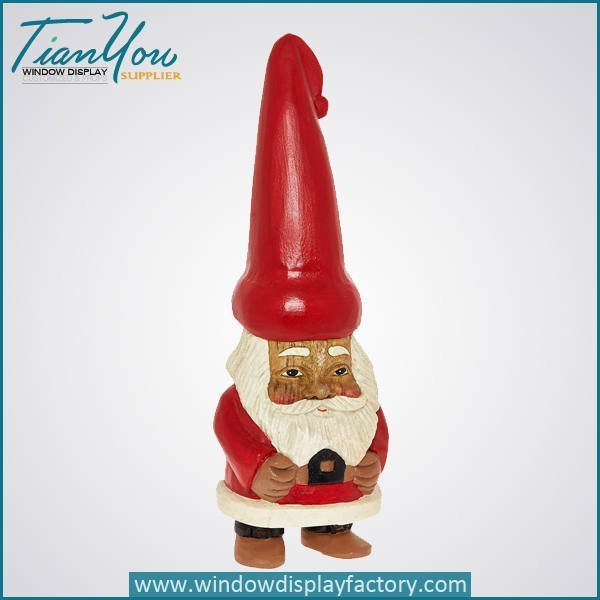 Fiberglass Christmas Decoration Cute Santa Claus Statue
