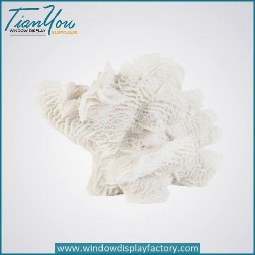 Various Type White Fiberglass Coral Craft Decoration