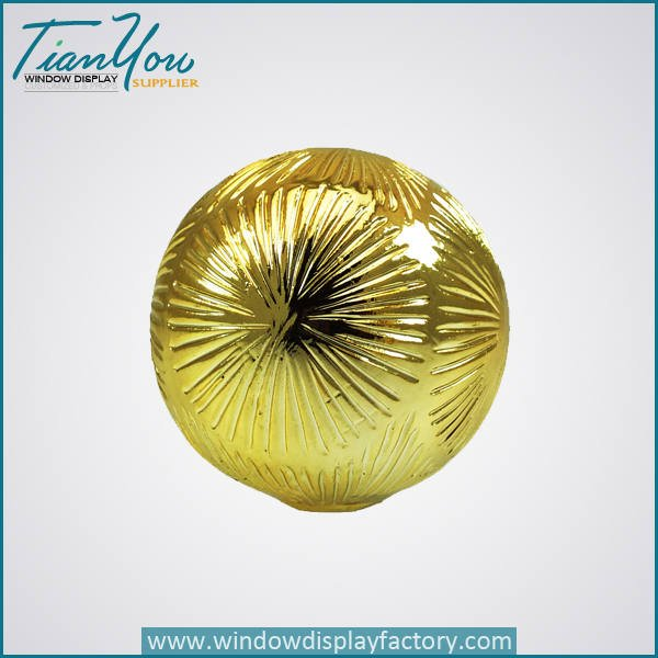fiberglass decorative golden christmas ball - Electroplate Colorful Cute Resin Christmas Ball Decoration