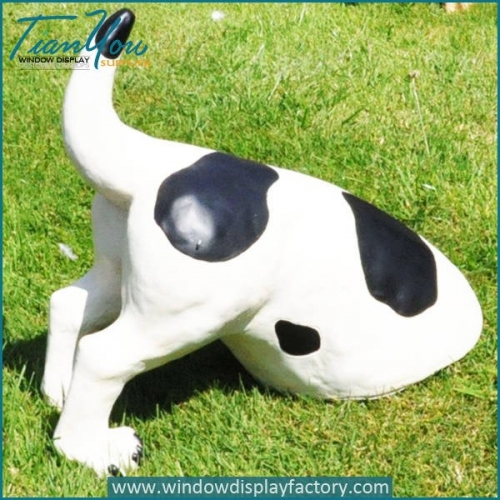 Outdoor Life Size Fiberglass Abstract Dog Statues