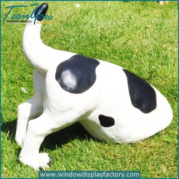 Outdoor Life Size Fiberglass Abstract Dog Garden Statues