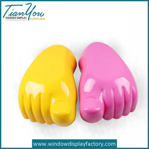 Custom Colorful Fake Resin Foot Decoration