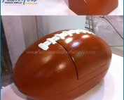 Giant Red Lovely Fiberglass Football Chair Props