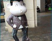 Decorative Life Size Fiberglass Monkey Statues Props