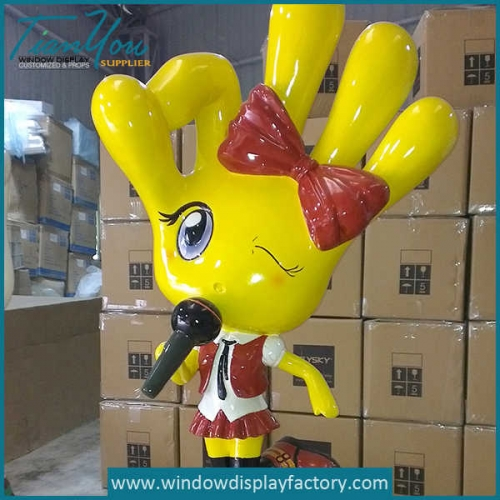girl 500x500 - Colorful Finger Shape Fiberglass Girl Props