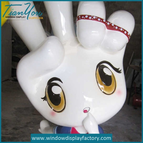 Giant Customized Shape Fiberglass Girl Statues