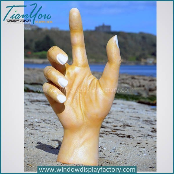 Outdoor Giant Female Fiberglass Hand Statue