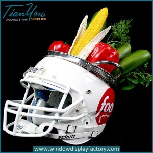 Advertising Magnetic Football Fiberglass Helmet Display