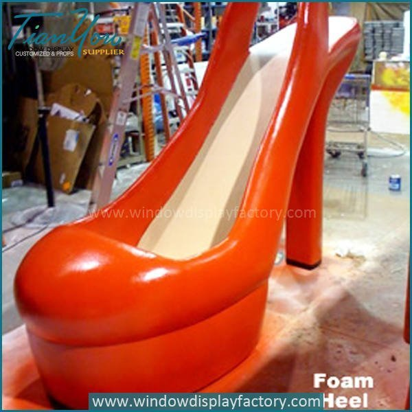 Modern Giant Fashion Fiberglass High Heels Display