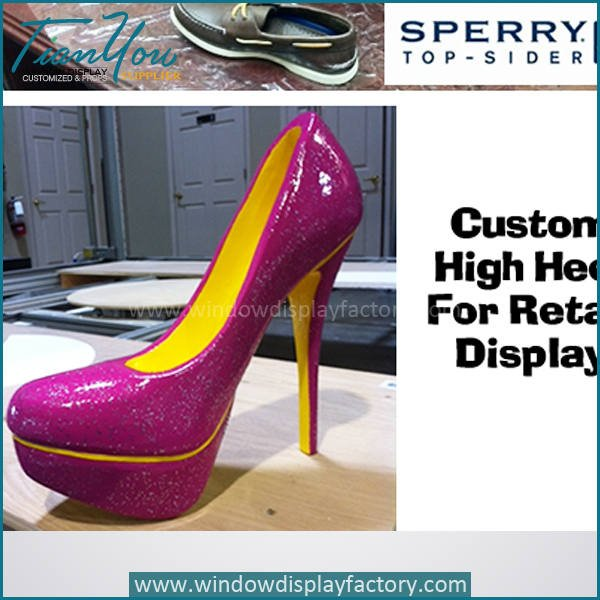 high heel shoes2 - Modern Giant Fashion Fiberglass High Heels Display