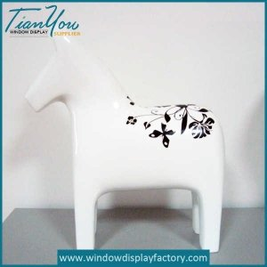 Classic White Resin Horse Display Props