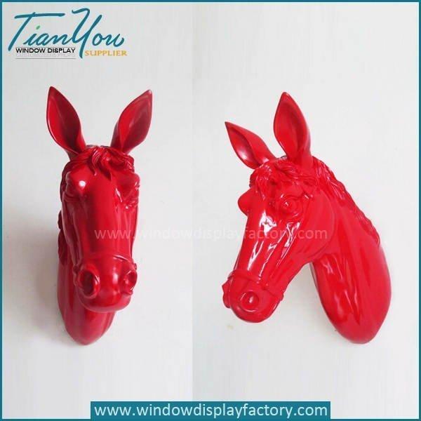 Wall Decoration Colorful Fiberglass Horse Head