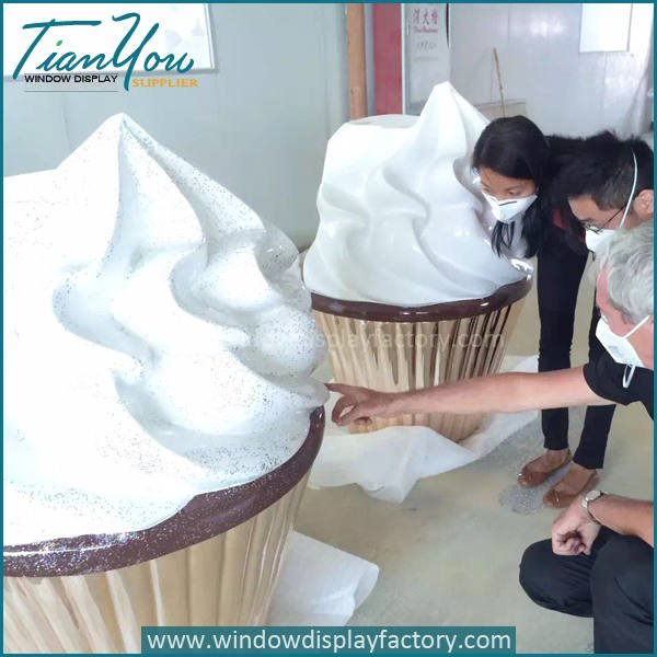 ice cream3 - Artificial Large Funny Fiberglass Ice Cream Decoration